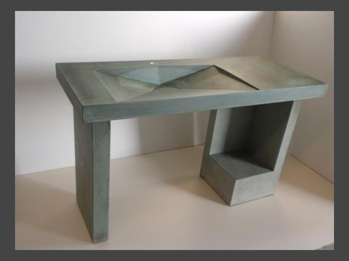 Exceptionnel ... 4 Of 38   Pedestal Concrete Sink   Original ...