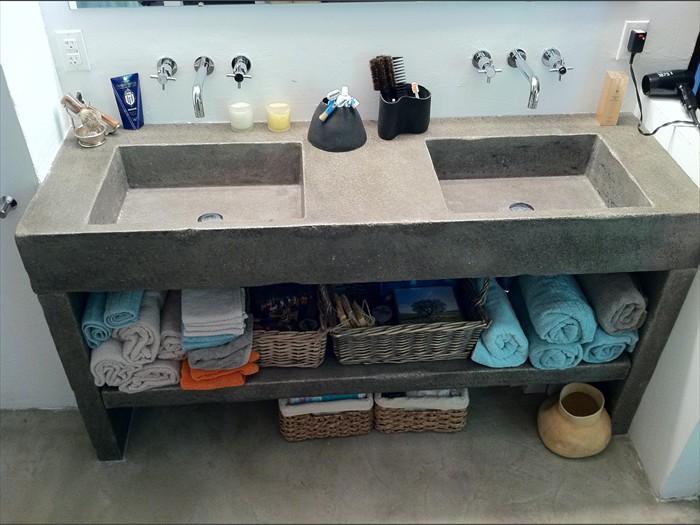 6 of 38   Rustic Nova Double   Concrete Sink   Original. Saeed Design   Bath