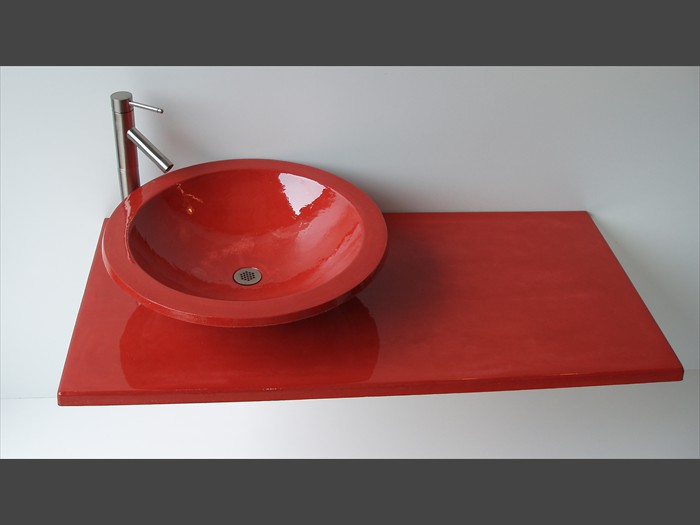 ... 16 Of 38   Precast Concrete Vanity Top   Vessel Sink ...